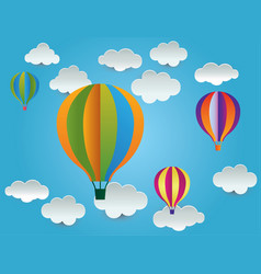 Balloon cloud ideas design vector