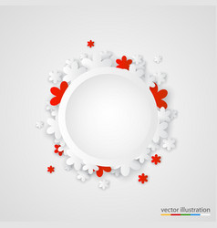 Beautiful paper flower ring background vector