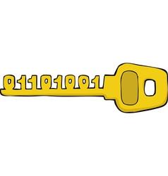 Binary key vector