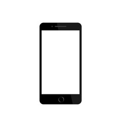 black phone in mockup style on isolated vector image