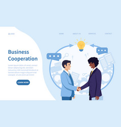 Business cooperation and teamwork concept vector