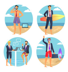 business summer businessman vector image