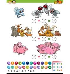 Calculate game cartoon vector