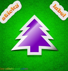 Christmas tree icon sign Symbol chic colored vector image