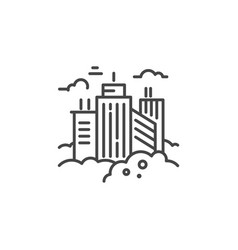 City line icon vector