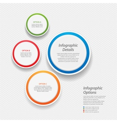 colourful infographic background vector image