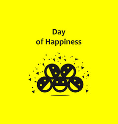 Day happiness template design vector