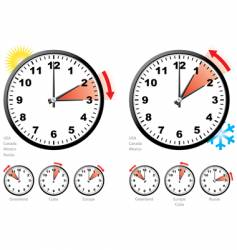daylight saving time vector image