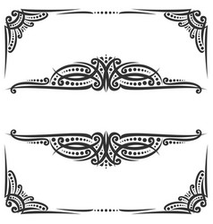 decorative black frames vector image