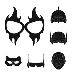 design of hero and mask icon collection of vector image