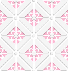 Diagonal pink floristic pattern vector