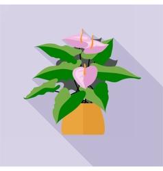 Digital green decorative orchid flower vector