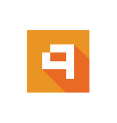 digital letter q logo q icon design vector image
