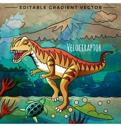 Dinosaur in the habitat Of vector