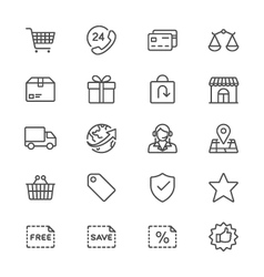 E-commerce thin icons vector