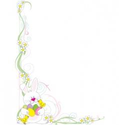 Easter corner vector image