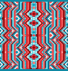 Ethnic tribal bright seamless pattern aztec style vector