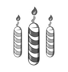 Festive candles icon black monochrome style vector image