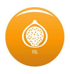 fig icon orange vector image