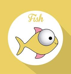 Fish design vector image