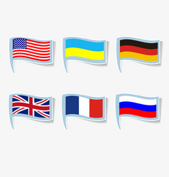 flags usa russia france germany vector image