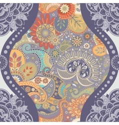 Floral seamless pattern in paisley style vector