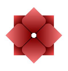 flower thai art company logo vector image