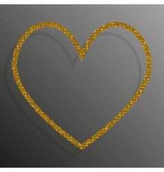 Frame Gold Sequins Heart Glitter sparkle vector