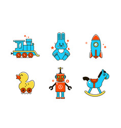 funny baicons colorful line vector image