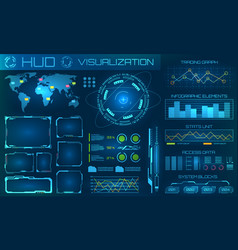 Futuristic hud background infographic or vector