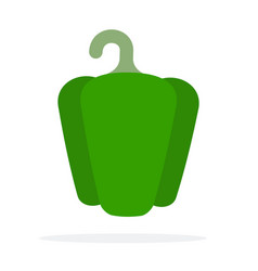 Green bell pepper vector