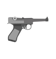 gun retro vintage cowboy art gangster revolver vector image