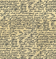 Handwriting seamless pattern old abstract letter vector