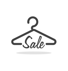 Hanger symbol with sale letter clothes shoping vector