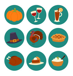 Happy thanksgiving day design holiday objects vector