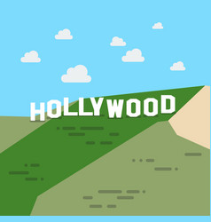 Hollywood sign vector