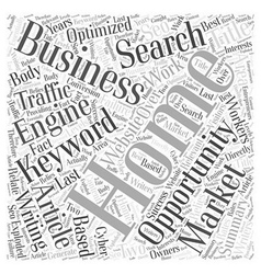 Home Business Writing Opportunity Word Cloud vector