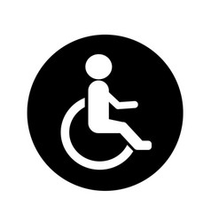 human wheelchair disabled icon design vector image