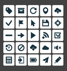 interface icons set collection of charge base vector image