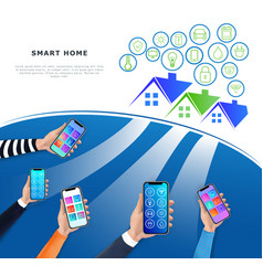 iot or internet of things concept smart home vector image