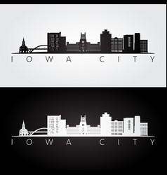 Iowa city usa skyline and landmarks silhouette vector
