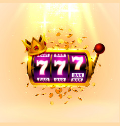 king slots 777 banner casino on golden vector image
