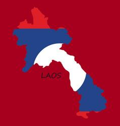 Laos flag map vector