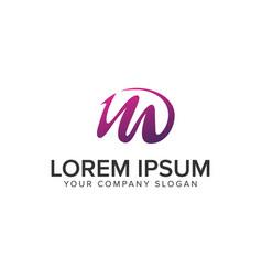 letter m purple creative logo design concept vector image