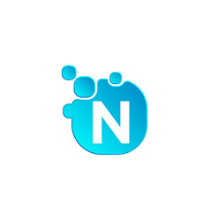 letter n bubble logo template or icon vector image