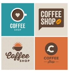Logo coffee shop vector