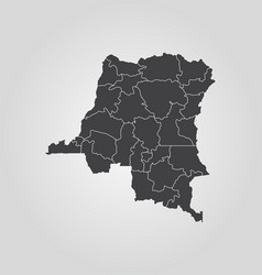 Map democratic republic congo vector
