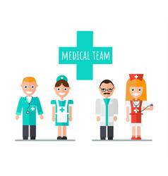 Medical team doctor nurse assistant vector