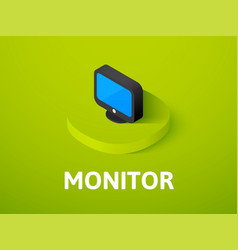 monitor isometric icon isolated on color vector image