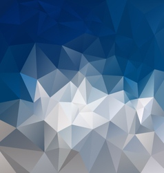 mountain gray blue abstract polygon triangular vector image
